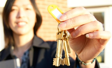 property manager with keys